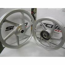 Jogo De Rodas Liga Leve Honda Biz 125 Scud Alumínio
