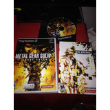 Metal Gear Solid 3 Snake Eater Playstation 2 Ps2 -old Games-
