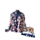 Kit 20 Blusa Plus Size Feminina Bata Estampa Floral Verão