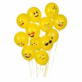 Bolsa De Globos Tematica Emojis X 12 Unidades Surtidas