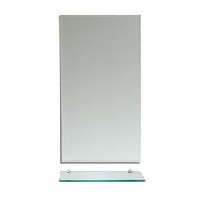 Espelho Para Banheiro (30x40cm) + Prateleira De Vidro