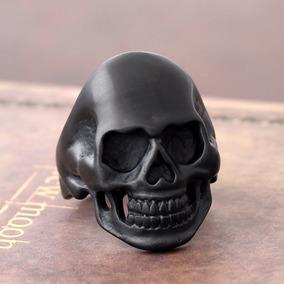 Anillo Calavera Negra - Rock Vintage Skull