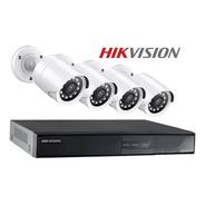 Kit 4 Camaras Seguridad Hikvision Dvr Full Hd Cctv