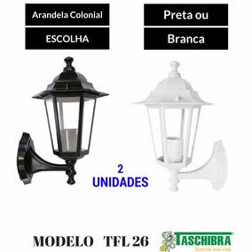 2 Luminárias Arandela Colonial Tlf 26 Alumínio Taschibra