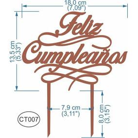 Feliz Cumpleaños Pastel Letrero Mdf Somos Fabricantes