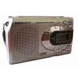 Radio Sonaki Am Fm Reloj Despertador Digital Ev-r8042d S3