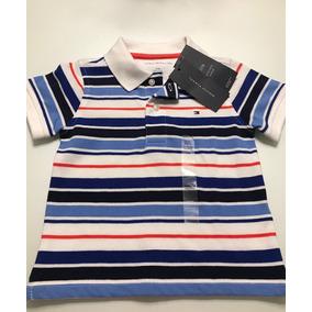 90a99287cf0e1 Camisa Polo Tommy Hilfiger Para Bebe 12m A 18 Meses Criancas ...