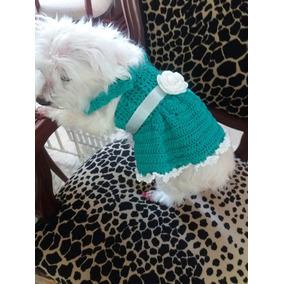Vestido De Croché Para Pet Cachorro Gato