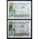 Argentina Lote 2 X Gj1835 Bahía Blanca 78 Colores Mint L5126
