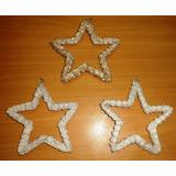 Estrella Tejida En Blanco O Dorado, Decoracion Boda, 15 Años