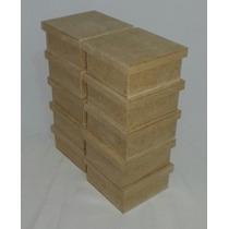 Caixa Mdf Cru 10x10x5 Cm Kit Com 35 Unds Lembrancinha
