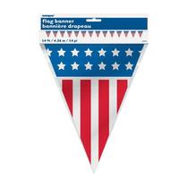 Banderín Estados Unidos. Souvenir 4.3mts De Largo. Remate!!!