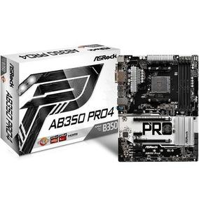 Placa-mãe Asrock P/ Amd Am4 Ab350 Pro4 Ddr4