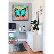Cuadros Decorativos Modernos Hogar Canvas Mariposa Colorida