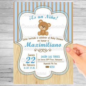 Invitación Digital Osito Baby Shower