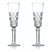 Set De 2 Copas De Cristal Tallado Para Champagne