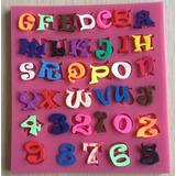 Molde Silicone Letras Alfabeto Números Trufa Mini Bolo Cupca