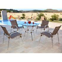 Cadeira Para Área Externa Em Alumínio E Fibra Sintética.