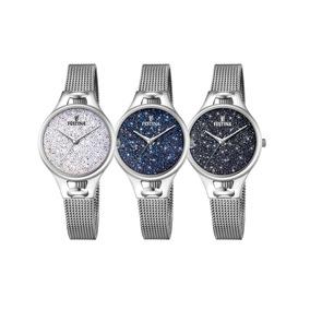 Reloj Festina F20331.1 .2 .3 Con Cristal Swarovski 50m Dama