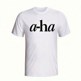 Camisa Camiseta Estampada Banda A-ha Rock Pop Manga Curta