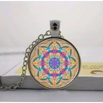 Collar Dije De Cristal Bisuteria Mandala Envio Gratis