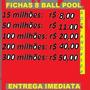 Fichas 8 Ball Pool - Menor Preço Do Mercado Livre + Brinde