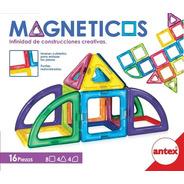 Bloques Magnético Imán Tipo Magnific 16 Piezas Antex Educand
