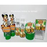 Kit Festa Lembrancinha Personalizada Mickey Safari 3d 120un