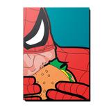 Quadro Decorativo Em Mdf Homem Aranha Comendo