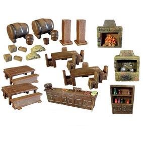 Kit Acessorios Taberna Miniatura Rpg Dungeons