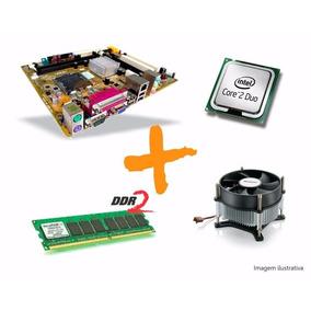 Kit Placa Mãe+cooler+processador+memorias+hd+brinde
