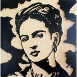 Frida Kahlo Cuadro De Madera Tallado