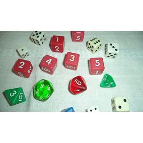 Dados Jogos Rpg Magic 16 Pçs Triang Cúbico Poligonal Cúbico
