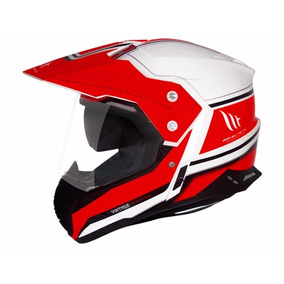 Capacete Mt Sv Duo Sport Cross Vintage White/red