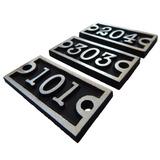 Placa Apartamento Numero Porta Identificação Aluminio L