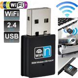 Adaptador Usb Wireless Wifi 821bgn Dongle 300mbps Alto Ganho