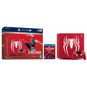 Ps4 Pro 1 Tb Spiderman Edicion Limitada