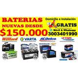 Baterías Willard Varta Acdelco Para Carros En Barranquilla