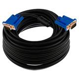 Cable Vga De 10 Metros Macho A Macho C/doble Filtro 15 Pines