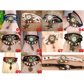 Relógio Pulseira Couro Feminina Varios Modelos