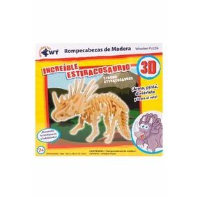 Rompecabezas De Madera 3 D Dinosaurio Juegos Puzzle