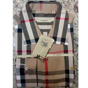 Camisa Social Burberry Xadrez Várias Cores + Frete Grátis