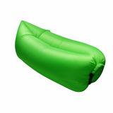 Sofa Inflavel Camping Colchao Magico Saco Dormir Puff Verde
