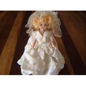 Muñeca Antigua Vestido De Novia