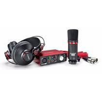Focusrite Scarlett Solo Studio Set Grabacion Audio Usb Kit
