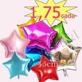 Balão Metalizado Estrelas Cores C/45cm