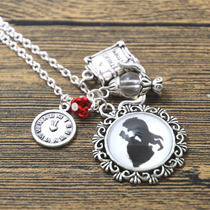 Collar Reloj Rosa Te De La Bella Y La Bestia Envio Gratis