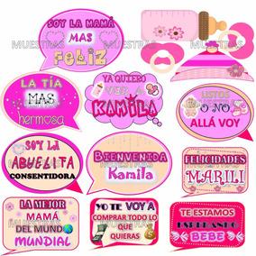 Kit Imprimible Props Letreros Fotos Baby Shower Personalizad