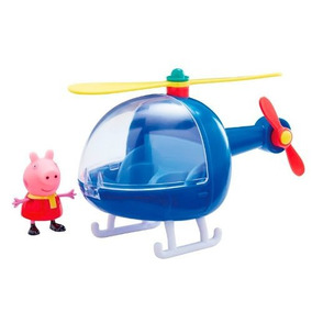 Helicóptero E Mini Figura - Peppa Pig - Dtc - Original - Top