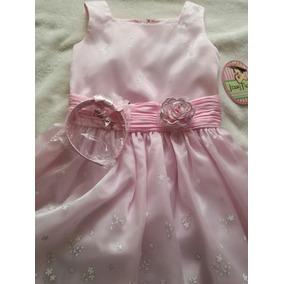 Vestido Nuevo Para Primera Comunion Talla 12 Color Rosa